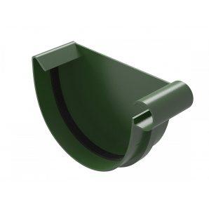 Заглушка жолоба River права 125 мм зелений