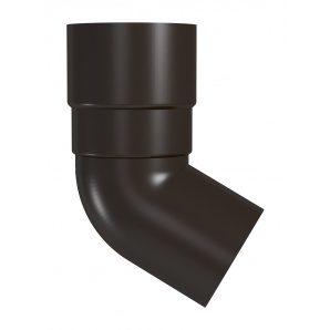 Коліно труби River 90 мм коричневий
