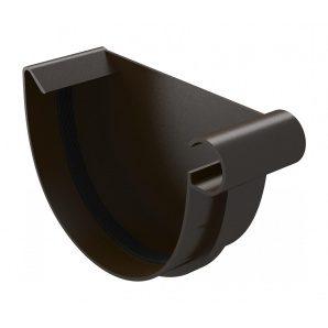 Заглушка жолоба River права 125 мм коричневий