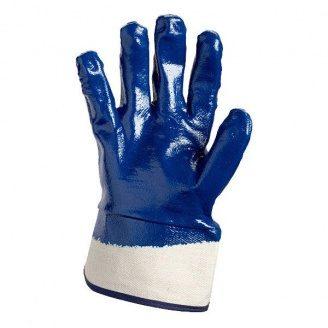 Рукавички манжет крага №851 нітрилове покриття повне сині