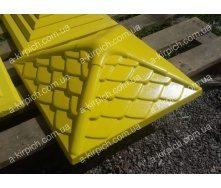 Крышка на забор LAND BRICK Дания желтая 450х450 мм