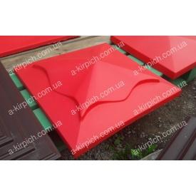 Крышка на забор LAND BRICK Медуза красная 450х450 мм