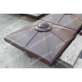 Крышка на забор LAND BRICK Скандинавия коричневая 450х450 мм