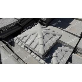 Крышка на забор LAND BRICK Черепица серая 450х450 мм