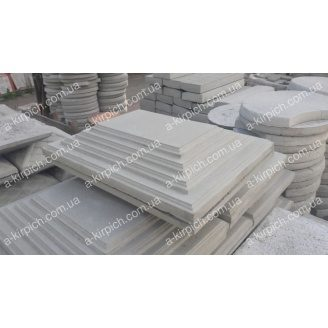Крышка на забор LAND BRICK Египет серая 450х570 мм