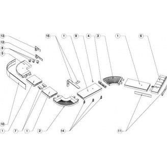 Стыковочный элемент для потолочного карниза ОМ 2