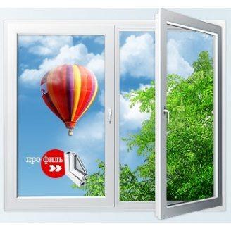 Окно профиль WDS CLASSIC трехкамерный 1300x1400 мм