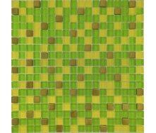 Мозаїка Grand Kerama мікс зелений-жовтий-золото 300х300 мм (457)