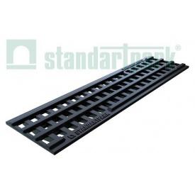 Решетка водоприемная ячеистая PolyMax Basic РВ-10.14.50 пластик 497х135х23 мм (20801)