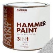 Краска молотковая 3 в 1 Biodur 0,7 л серебристо-серый