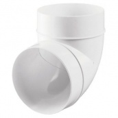 Колено для круглых каналов Vents 100 мм 90 градусов (121)