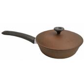 Сковорода с крышкой Пролис 22 см коричневый (СК-220 дп)