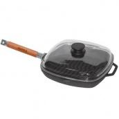Сковорода-гриль Биол со съемной ручкой и крышкой 26 см (1026С)