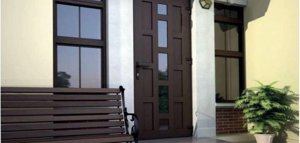 Двері з вітражем