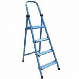 Стремянка металлическая WORK`S 8 сх. 408 389 см 8,8 кг синяя