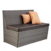 Садовый диван Орлеан искусственный ротанг 120х70х91 см черный