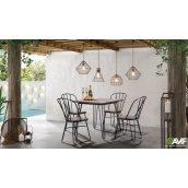 Комплект садовой мебели АМФ стол Smith 80+ стулья Clapton черный 5 шт
