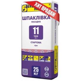 Шпаклевка цементная стартовая Будмайстер ТИНК-11 Шп-2 25 кг