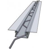Крепление тепличной пленки клипса зигзаг 0,5 мм