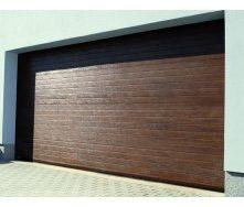 Гаражні секційні ворота KRUZIK Base 2750х2200 мм темний дуб