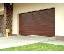 Гаражні секційні ворота KRUZIK Base 2500х2500 мм коричневий