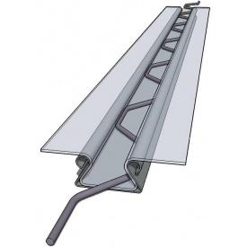 Кріплення тепличної плівки кліпса зигзаг 0,5 мм