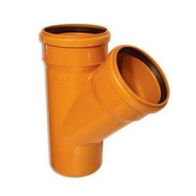 Тройник 160 мм канализационный наружный 45 градусов