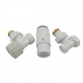 Термостатичний комплект кутовий білий Schlosser GZ1/2 x GW1/2 (602200056)
