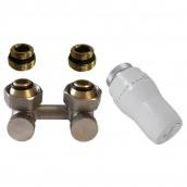Термостатичний комплект нижнього підключення кутовий нікель Schlosser GZ3/4xGZ3/4(600800053UA)