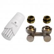 Термостатичний комплект нижнього підключення кутовий нікель Schlosser GZ3/4xGW3/4 (600800045UA)
