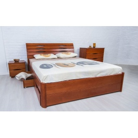 Ліжко дерев`яне Маріта Люкс з 4 шухлядами 200х140 см