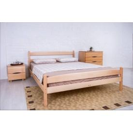 Ліжко дерев'яна Ліка з ізножьем 200х140 см