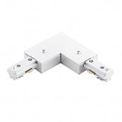 Коннектор для рейок трекових світильників Ledmax L-1-PHS ADAPTER кутовий білий
