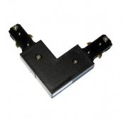 Коннектор для рейок трекових світильників Ledmax L-1-PHS ADAPTER кутовий чорний