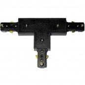 Коннектор для рейок трекових світильників Ledmax T-1-PHS ADAPTER потрійний чорний