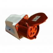 Розетка ElectrO РС -124 3 полюса + PE 32А 400В IP44 (PC124)