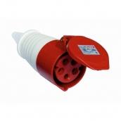 Розетка ElectrO РС -224 3 полюса + PE 32А 400В IP44 (PC224)