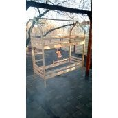 Кровать 2-х ярусная домик 1900x800 мм