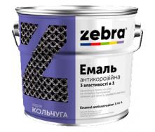 Емаль антикор 3 в 1 0,75 л Зебра Кольчуга чорний 90