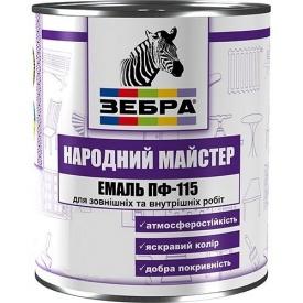Эмаль №525 Бирюза зебра народний майстер ПФ-115 2,8 кг