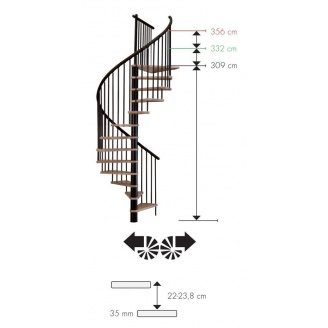 Винтовая лестница MINKA SPIRAL Effect 120 см