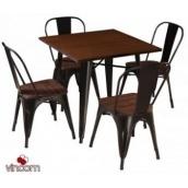 Стол обеденный Vetro мебель Т-18 80х80х76 см