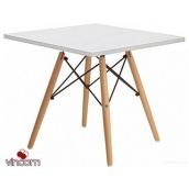 Стол обеденный SDM Тауэр Вуд 70х70 см белый