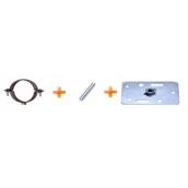 Черенок трубы PROFiL для вент. фасадов 130 мм графитовый