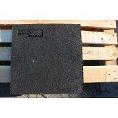Гумова плитка 10х400х400 мм чорна