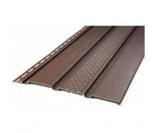 Панель софита Айдахо без перфорации коричневая 0,90 м2/шт
