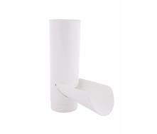 Отвод для сбора воды 130 мм белый