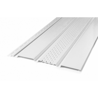 Панель софита Айдахо без перфорации Белый 0,90 м2 /шт