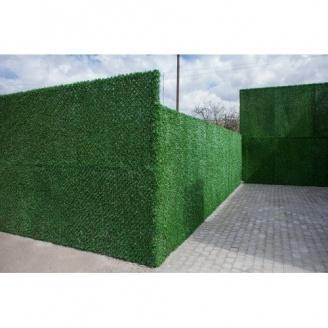 Зеленый забор Dark Green из искусственной травы ПВХ 1,70х10 м