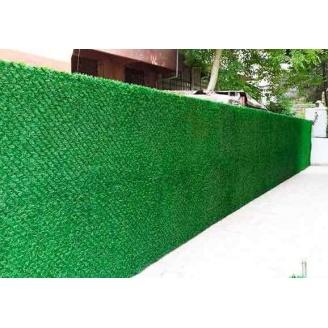Зеленый забор Mix Green из искусственной травы ПВХ 1х10 м